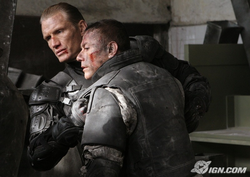 """JCVD and Dolph appear to be friends again, despite all of that """"killing"""" nonsense from the past."""