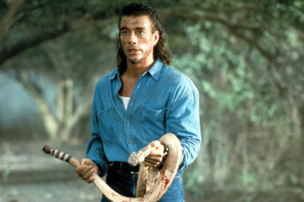 JCVD setting his patented rattlesnake trap